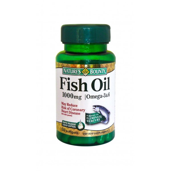 Nature 39 s bounty omega 3 fish oil 1000 mg 50softgels for Nature bounty fish oil