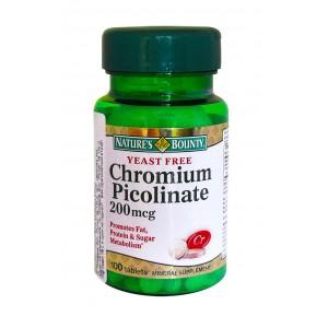 Nature's Bounty - Chromium Picolinate 200 mcg 100tabs.