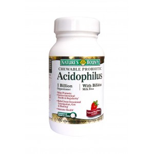 Nature's Bounty - Chewable Acidophilus 100tabs.