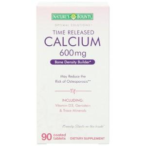 Nature's Bounty - Calcium & Vit. D & Genistein 90tabs.