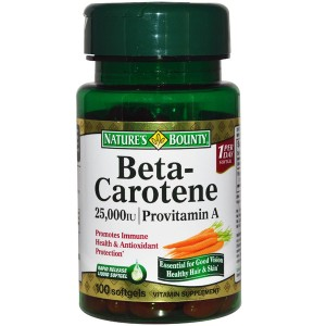 Nature's Bounty - Beta Carotene 25000 100softgels