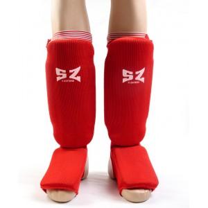SZ Fighters - Протектор за крака - червен ластик